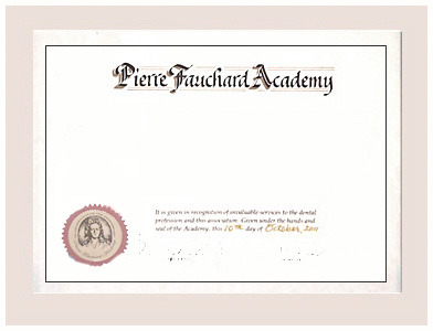 Student Certificate Of Merit Pierre Fauchard Academy