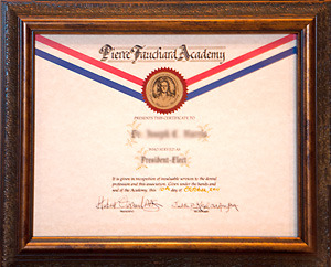 Outgoing Officer Certificate Pierre Fauchard Academy